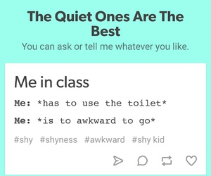 class, funny, and introvert image