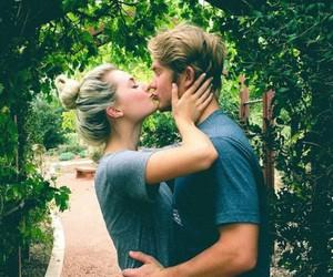 adorable, couple, and kiss image