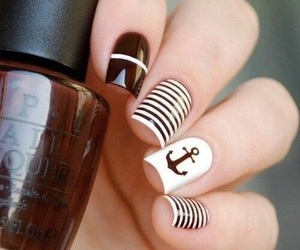 nails, brown, and nail art image