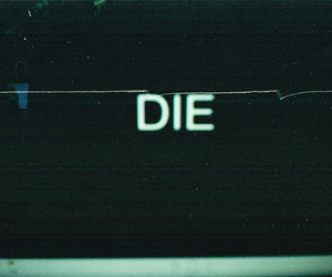 die and text image