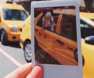 girl, photography, and taxi image