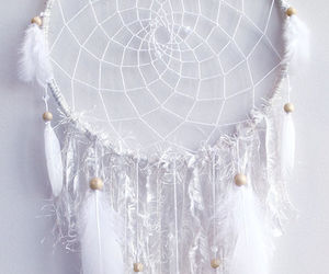 white, dreamcatcher, and Dream image