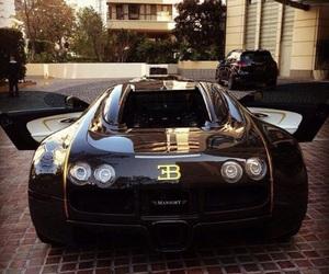 car, black, and bugatti image