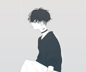 boy, anime, and art image