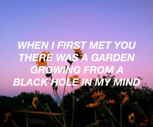 garden, quote, and halsey image