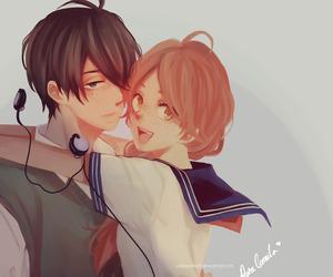 anime, couple, and yukirin image