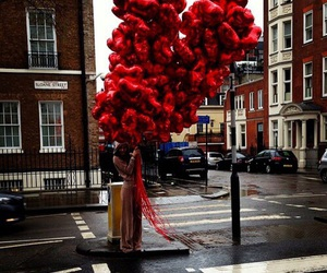 london, red, and street image