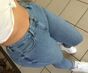 jeans, white, and body image