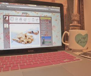 tumblr, pink, and macbook image
