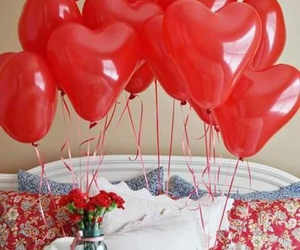 love, surprise, and balloons image