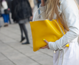 fashion, yellow, and bag image
