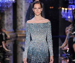 dress, elie saab, and blue image