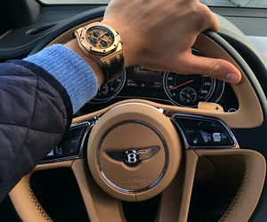 car, watch, and Bentley image