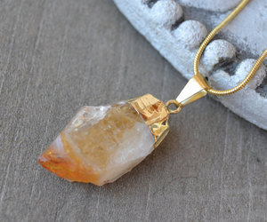citrine, crystal jewelry, and healing crystals image