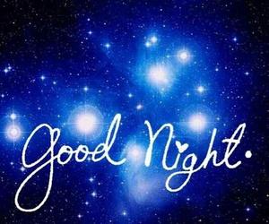 good night and stars image