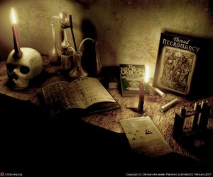 magic, black and white, and candle image