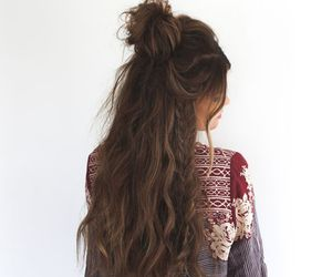 hair, braid, and girl image