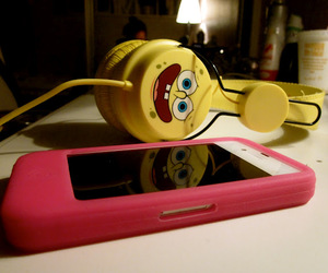cool, headphones, and iphone image