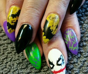 batman, joker, and nails image