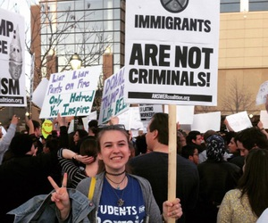 immigrants, immigration, and protest image
