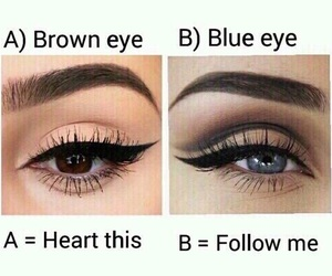eye color, eyebrow, and eyeliner image