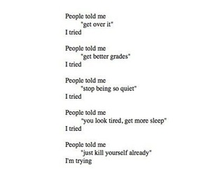 depression, sad, and depressio image