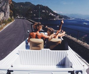 couple, summer, and travel image