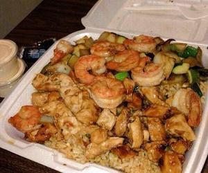food, food porn, and shrimp image