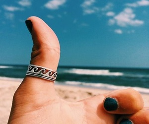 girl, ring, and beach image