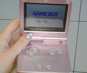 pink, pale, and gameboy image