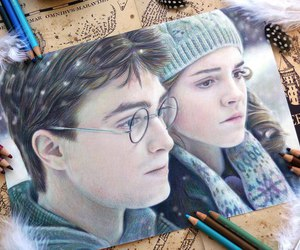 harry potter, hermione granger, and art image