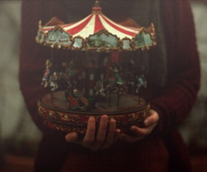 vintage, photography, and carousel image
