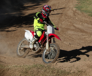 gold, motocross, and green image