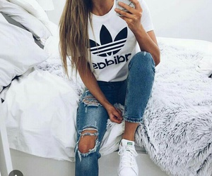 adidas, girls, and stansmith image