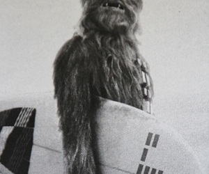 surf, star wars, and black and white image