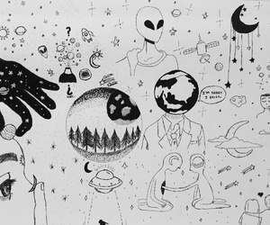aliens, astronauts, and girls image