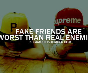 enemies, fake, and friends image