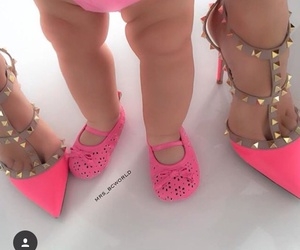 baby shoes, pink, and louboutin image