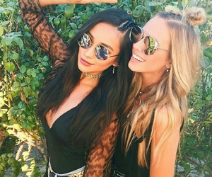 coachella, shay mitchell, and friends image