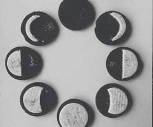 oreo, moon, and Cookies image