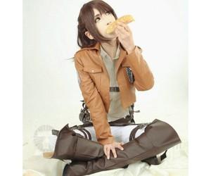 shingeki no kyojin, attack on titan, and brown cosplay boots image