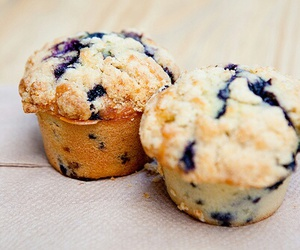 food, muffin, and blueberry image