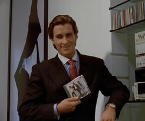 american psycho, christian bale, and music image