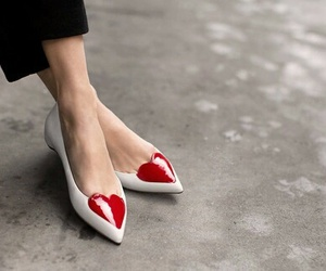 doll shoes, flats, and heart image