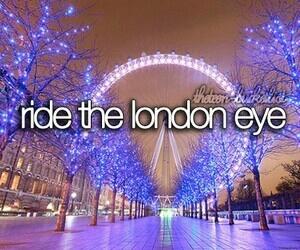 london, london eye, and bucket list image
