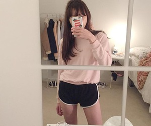 aesthetic, mirror, and pastel image