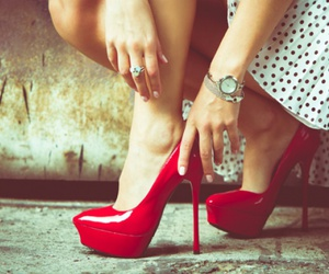 background, red, and shoes image