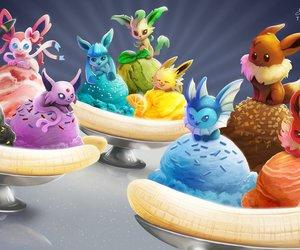 pokemon, eevee, and ice cream image