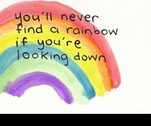 rainbow and quote image