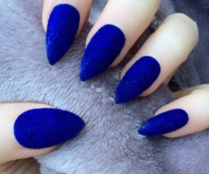blue and nails image